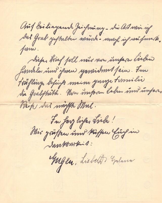 Eugen and Lisbeth Haas to Eugen Klee, November 11, 1926, p. 9
