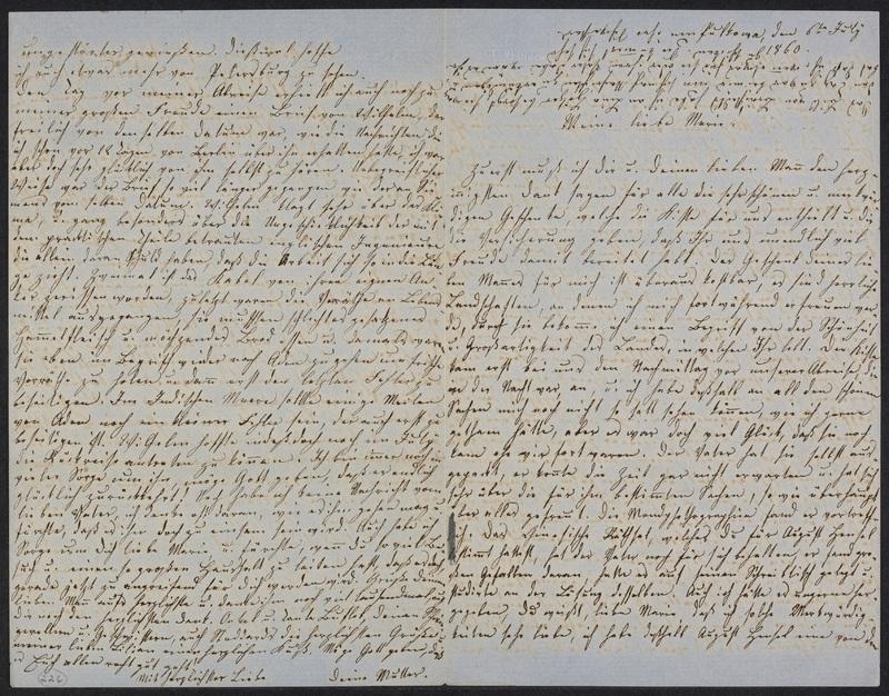 Lina Hansen to Marie Hansen Taylor, July 6, 1860