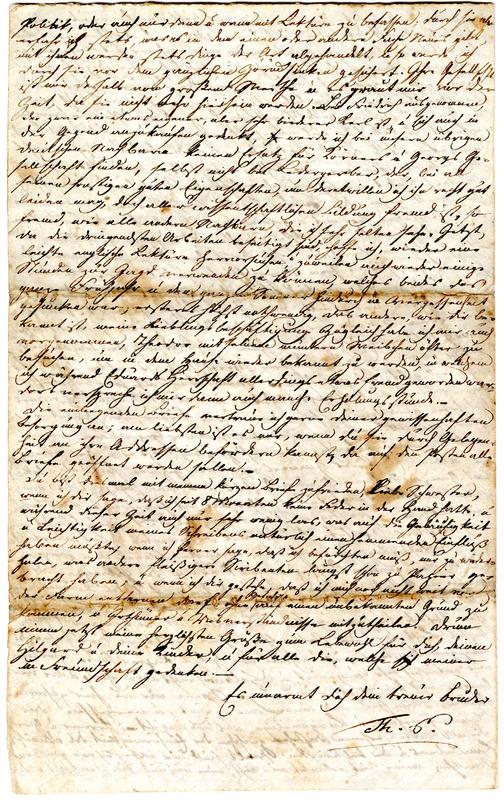 Theodor Engelmann to Margarethe Hilgard, July 30, 1834, p. 4