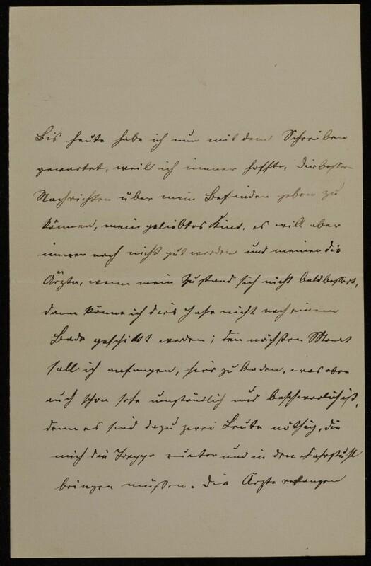 Anna Oppenheim to Margarethe Raster, May 20, 1884