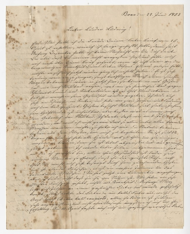 Marie Eversmann to Lewis Eversmann, June 22, 1853