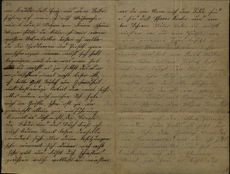 Schulz family letter, December 1, 1888, page 2 [left-hand] and page 3 [right-hand]