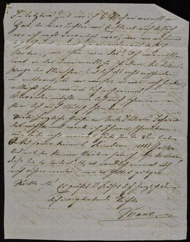 Höfeln family letter, 1868, page 2