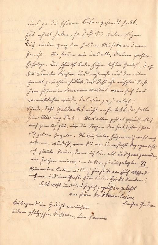 Lenchen Cherdron to Eugen Klee, November 23, 1920, p. 4
