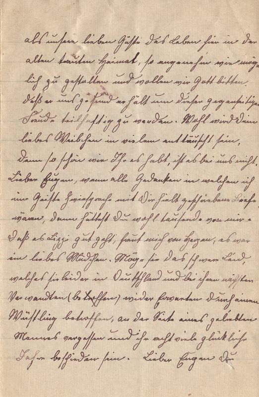 Lenchen Cherdron to Eugen Klee, April, 1920, p. 5