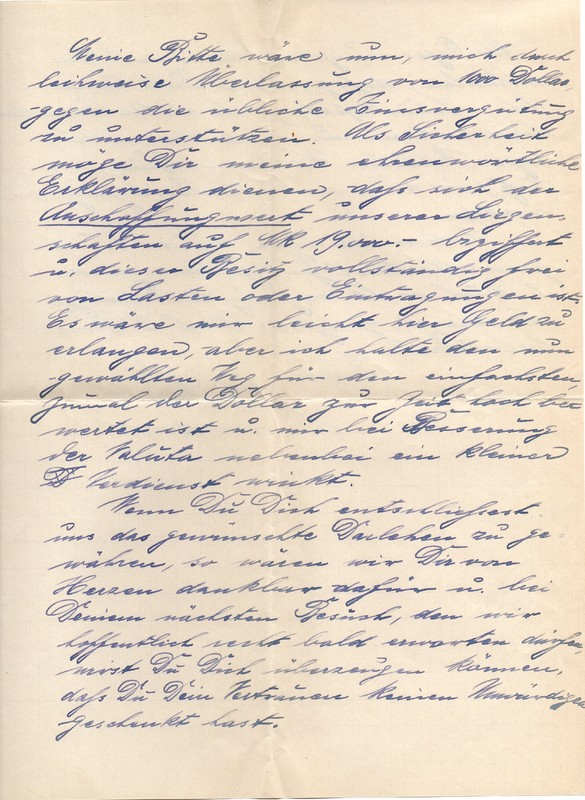 Fritz W. Berdel to Eugen Klee, November 23, 1919, p. 3