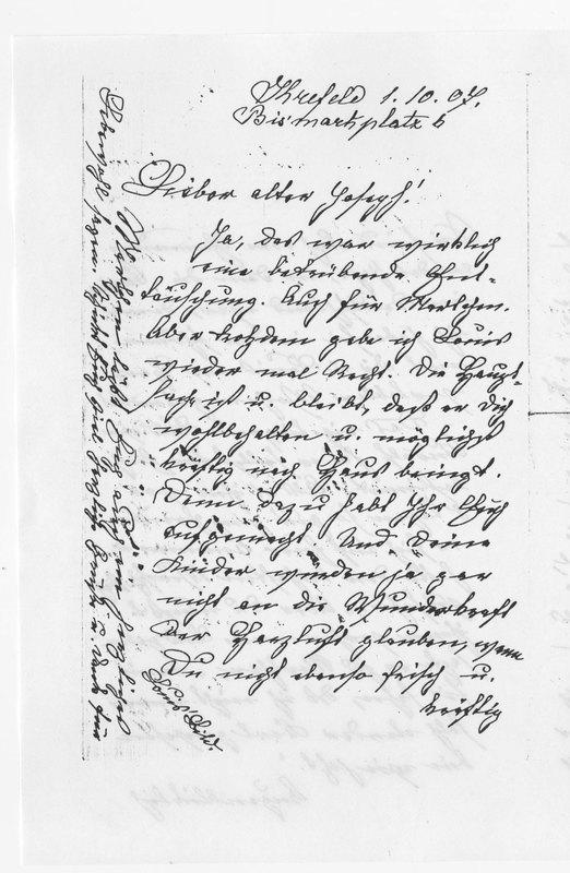 Benecke family letter, October 1, 1907