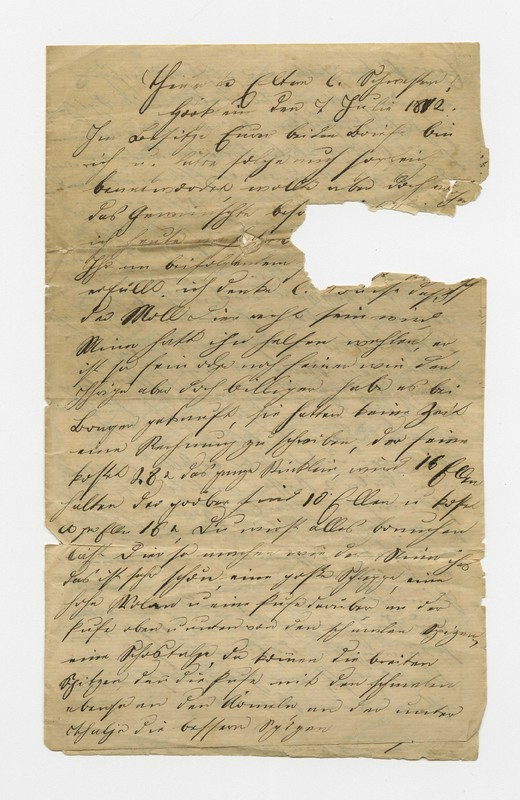 Bertha Meyer to family, July 7, 1872