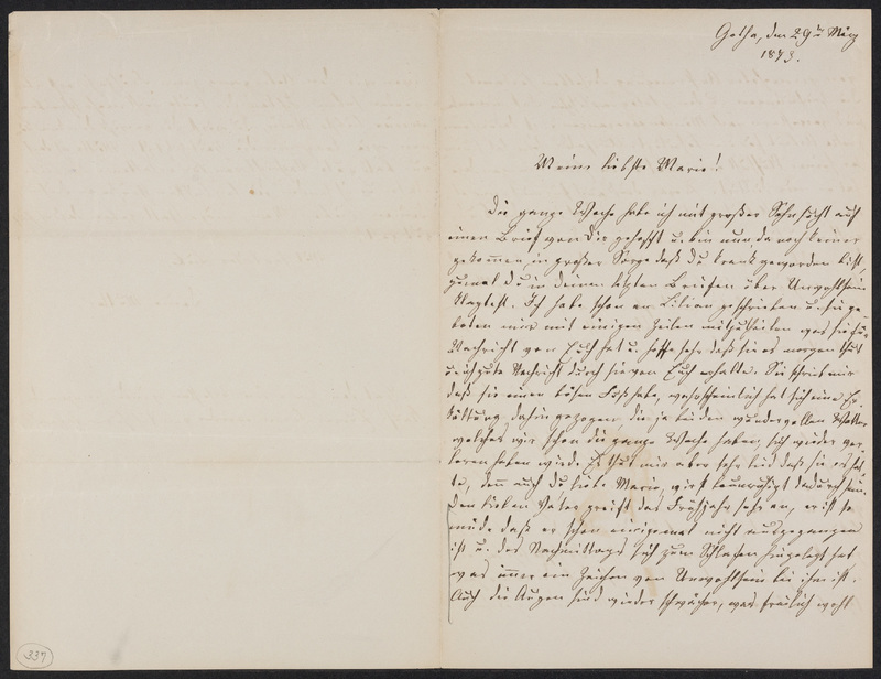 Lina Hansen to Marie Taylor, March 29, 1873