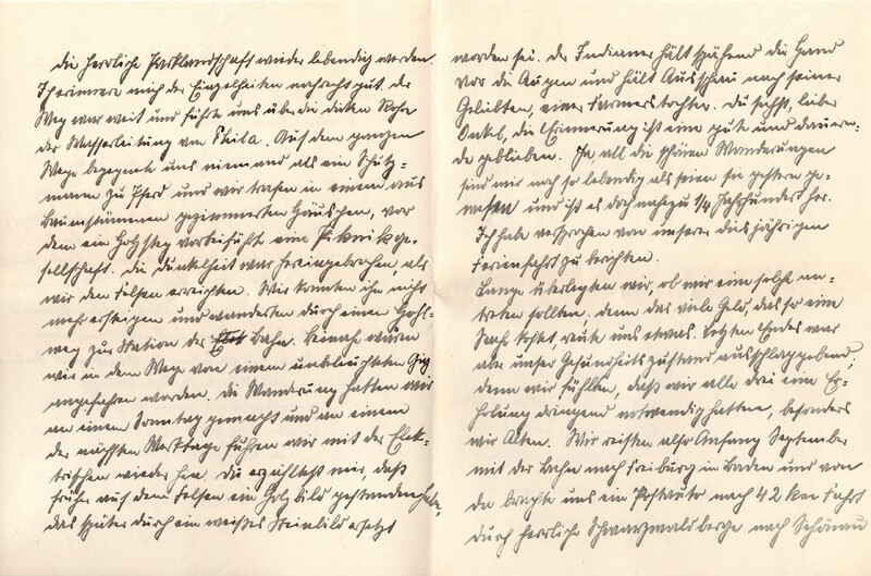 Eugen and Lisbeth Haas to Eugen Klee, December 9, 1926, p. 2 and p. 3