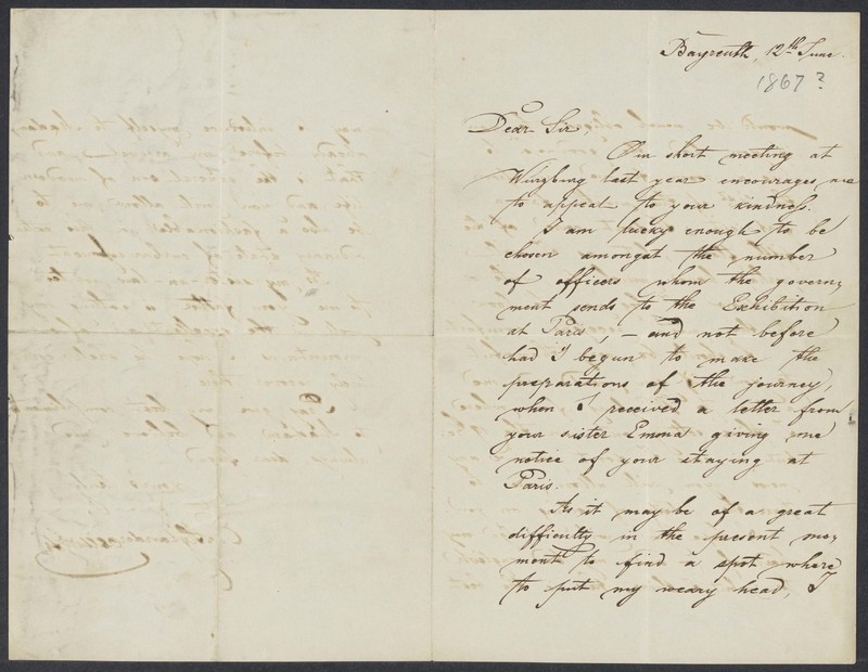 Emil von Xylander to Henry Villard, June 12, 1867