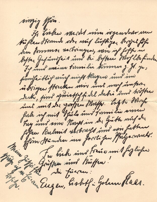 Eugen and Lisbeth Haas to Eugen Klee, July 14, 1927, p. 2