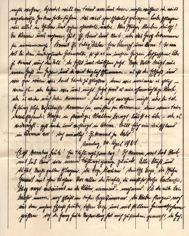 Eugen Haas to Eugen Klee, April 22, 1921, p. 3