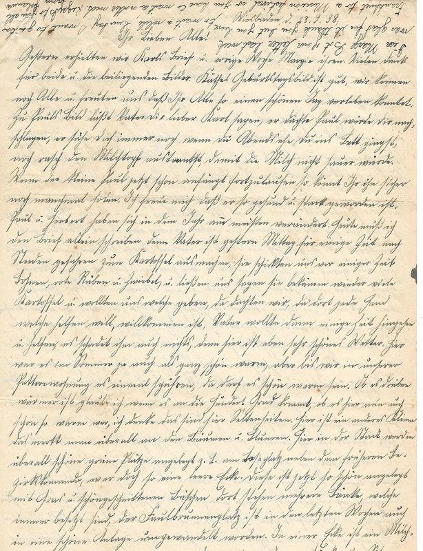 Caroline Emmel to Karl Emmel, September 23, 1938