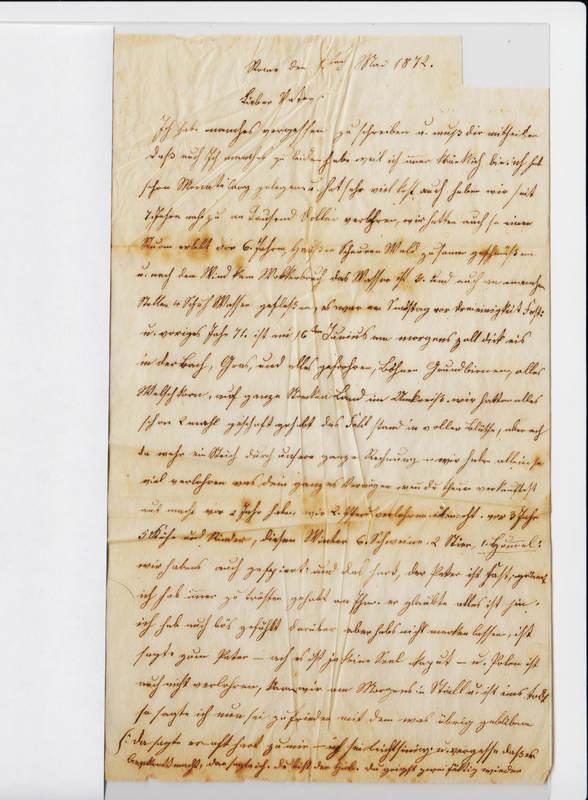 Dorothea Schuhmacher to Gottfried Handel, May 1, 1872 [2 of 2]