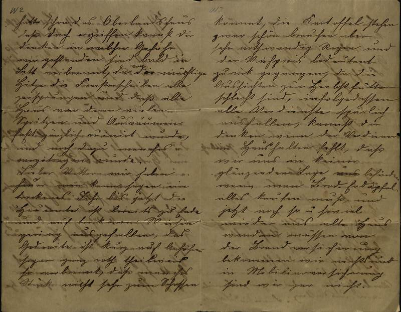 Schulz family letter, July 14, 1892, page 2 [left-hand] and page 3 [right-hand]