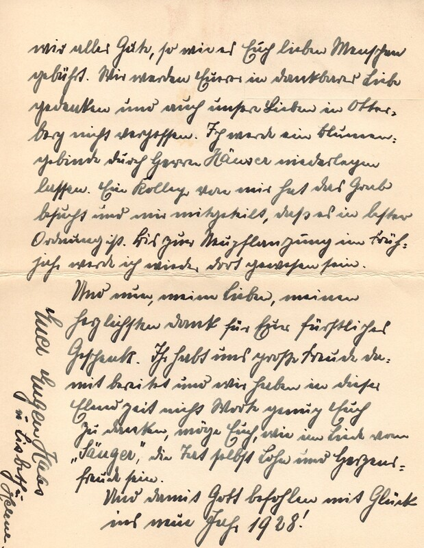 Eugen and Lisbeth Haas to Eugen Klee, December 15, 1927, p. 6