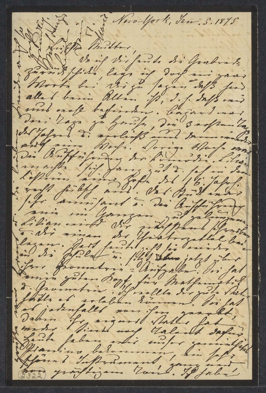 Marie Taylor to Lina Hansen, January 5, 1875
