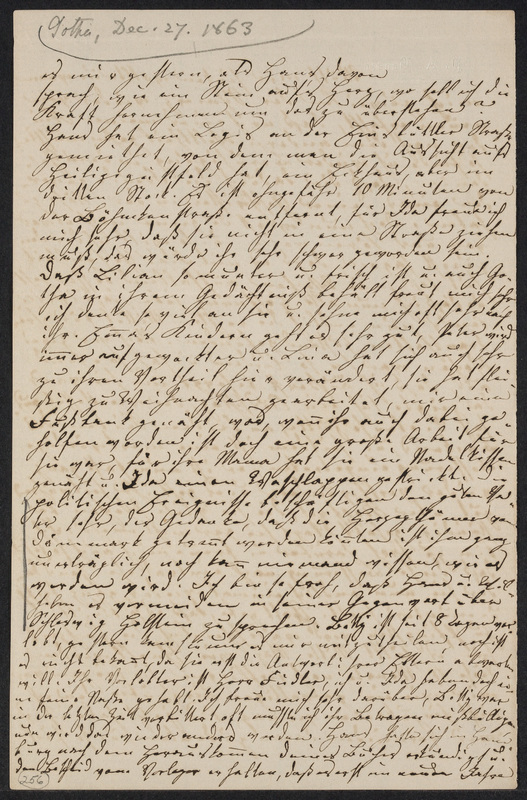 Lina Hansen to Marie Hansen Taylor, December 27, 1863