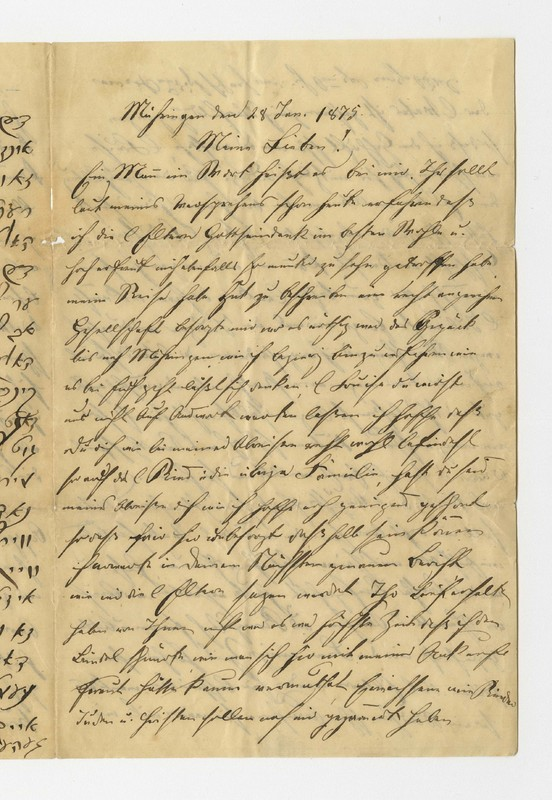 Schweitzer family letter, January 28, 1875
