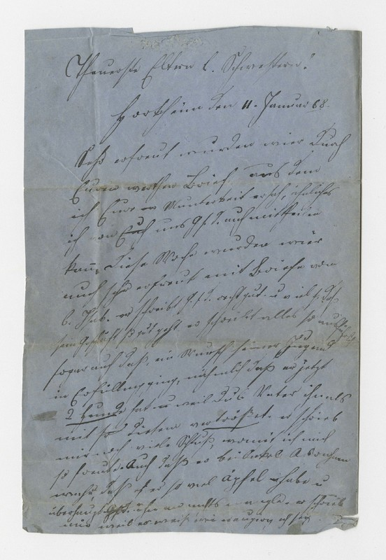 Schweitzer family letter, January 11, 1868