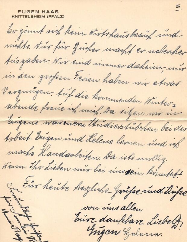 Eugen and Lisbeth Haas to Eugen Klee, October 6, 1924, p. 5