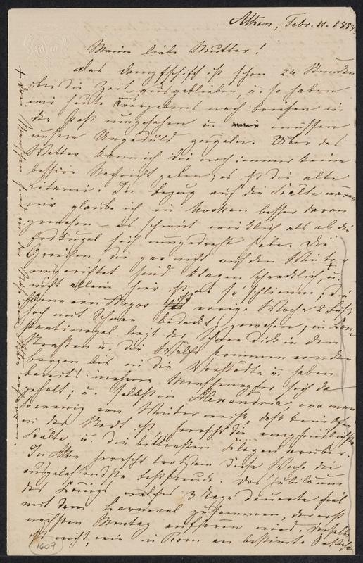 Marie Hansen Taylor to Lina Hansen, February 11, 1858