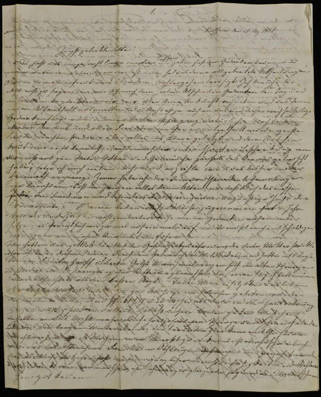 Letter to Charlotte Fischer, December 28, 1851