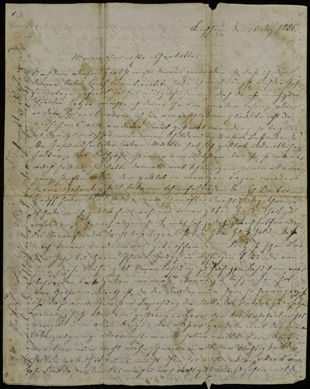 Höfeln family letter, December 26, 1856