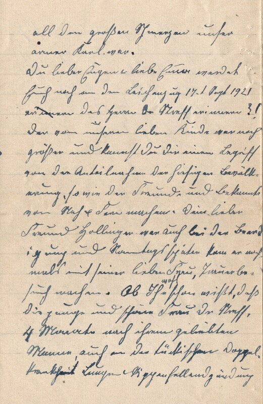 Lenchen Cherdron to Eugen Klee, July 14, 1922, p. 8