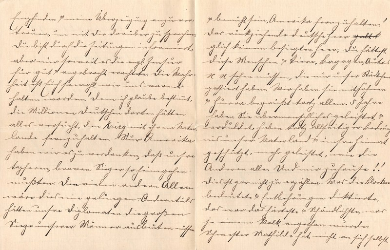 Lenchen Berdel to Eugen Klee, August 6, 1919, p. 2 and p. 3