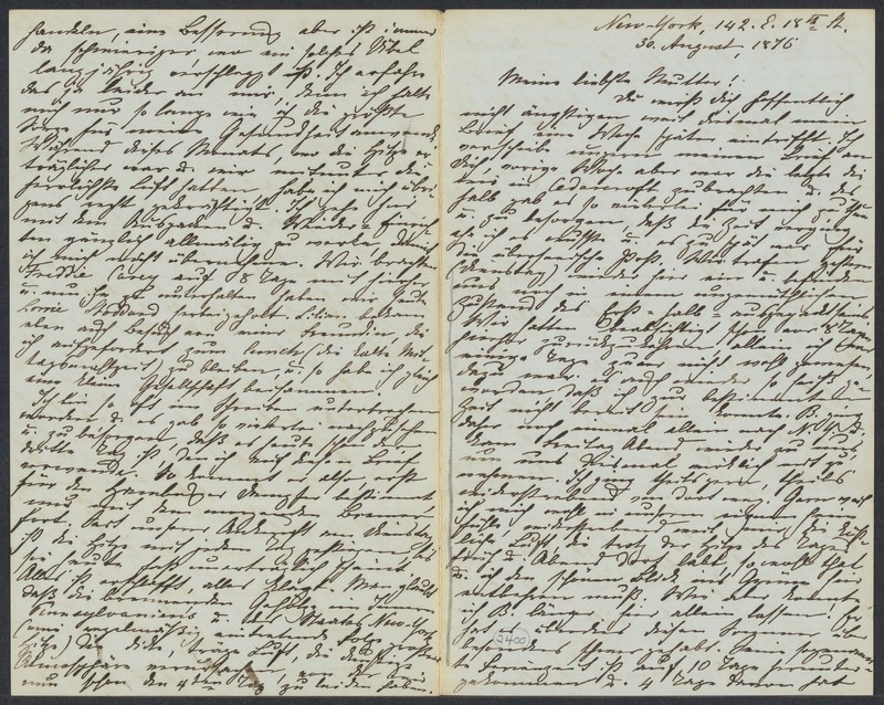 Marie Taylor to Lina Hansen, August 30, 1876
