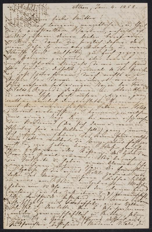 Marie Hansen Taylor to Lina Hansen, January 4, 1858