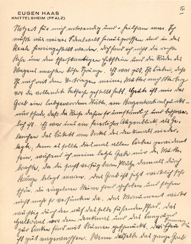 Eugen and Lisbeth Haas to Eugen Klee, June, 1927, p. 5