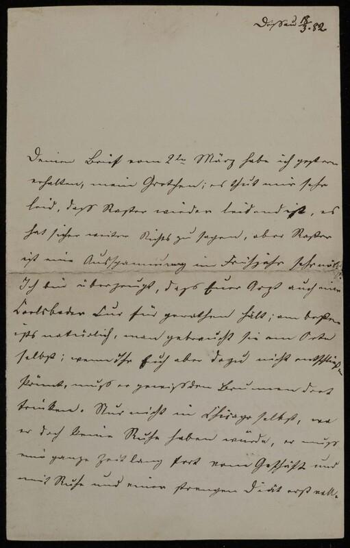 Anna Oppenheim to Margarethe Raster, March 18, 1882