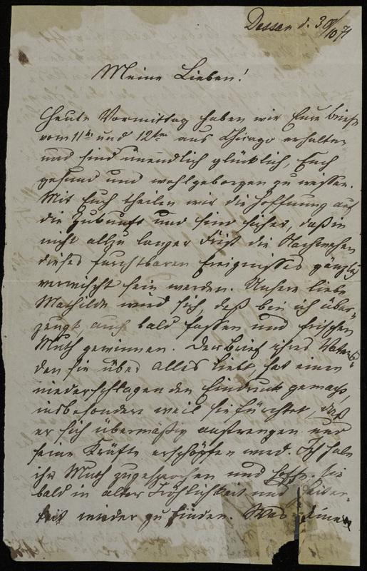 Raster family letter, October 30, 1871