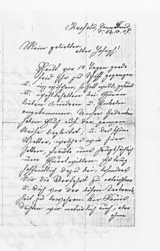Benecke family letter, October 26, 1907, page 1