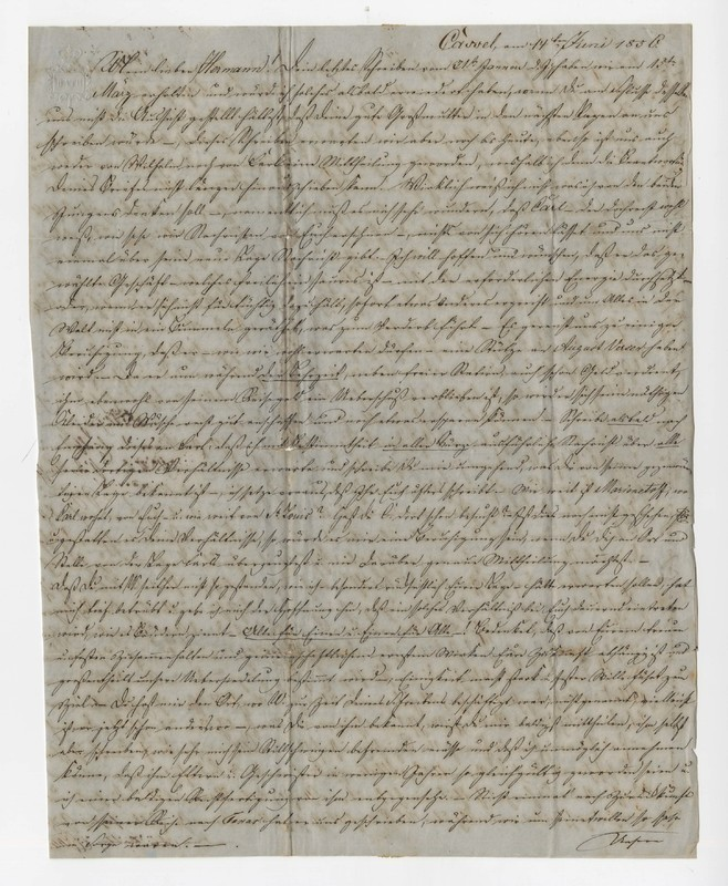 Crede family letter, June 14, 1856