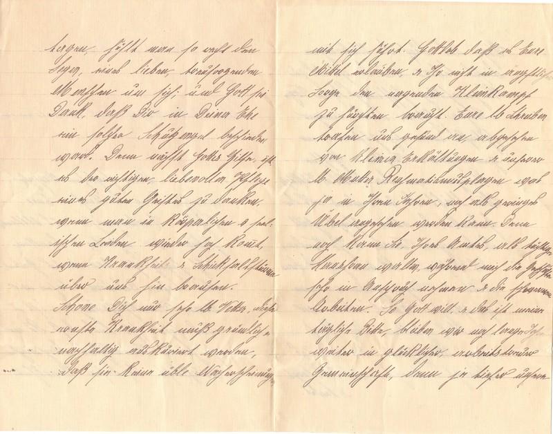 Mathilde Rettig to Eugen Klee, February 6, 1921, p. 2 and p. 3