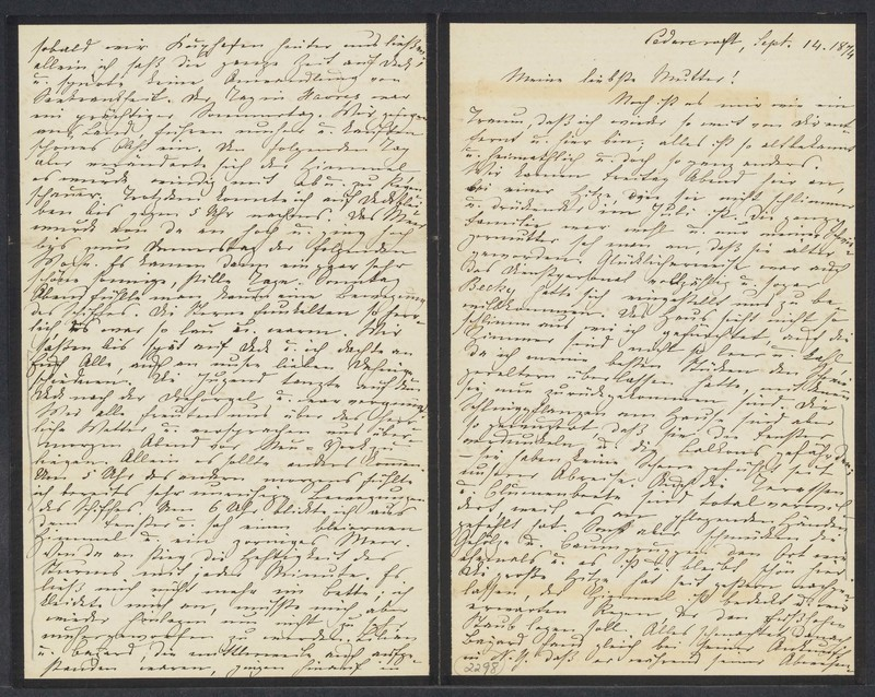 Marie Taylor to Lina Hansen, September 14, 1874