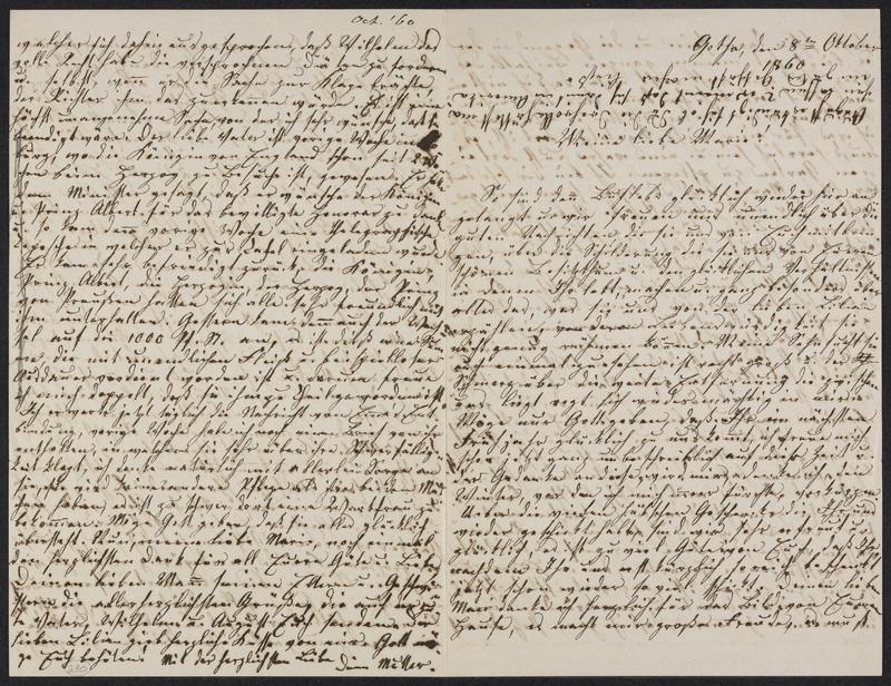 Lina Hansen to Marie Hansen Taylor, October 8, 1860
