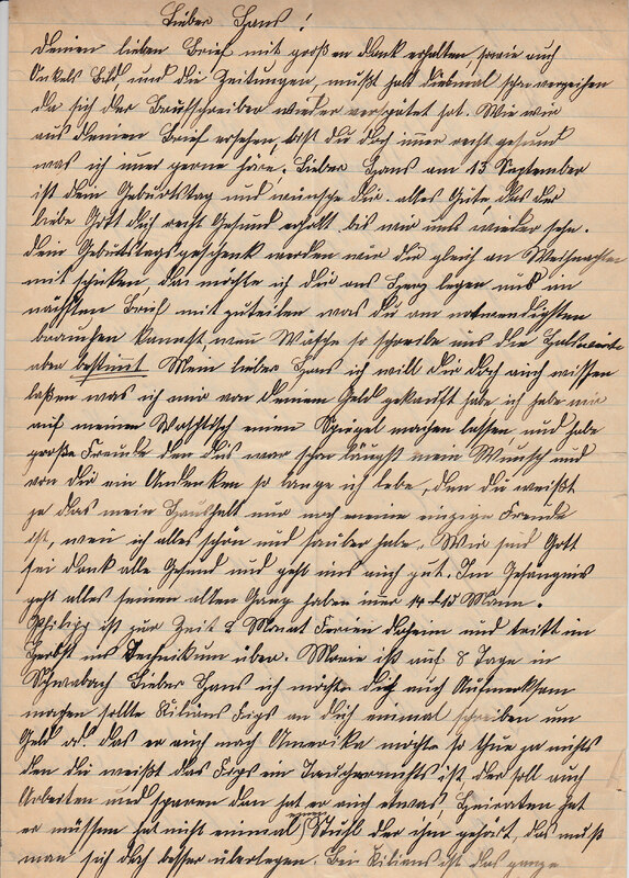Weinhardt family letter, August 16, 1927
