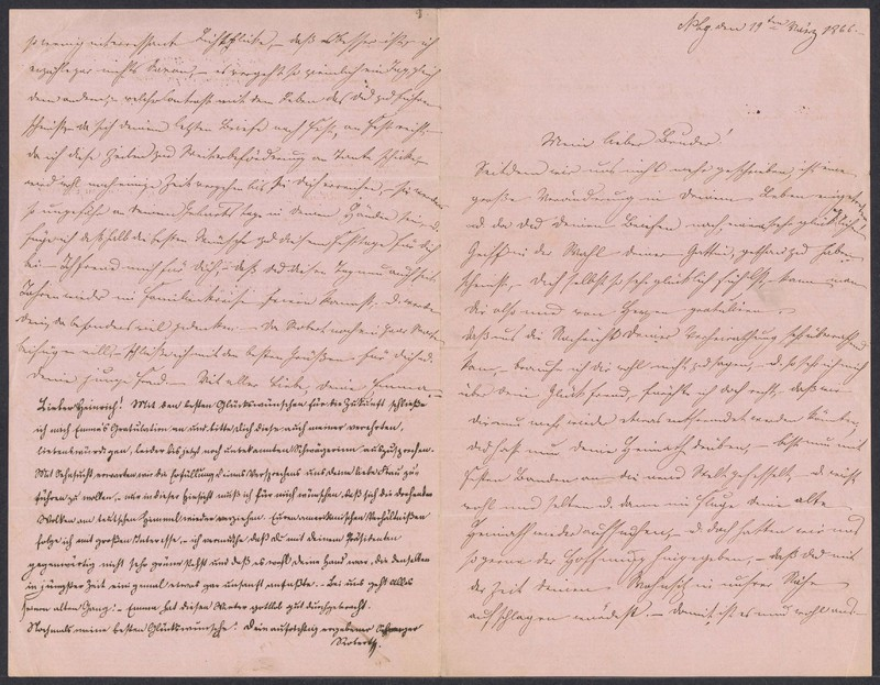 Emma Hilgard (von Xylander) to Henry Villard, March 19, 1866