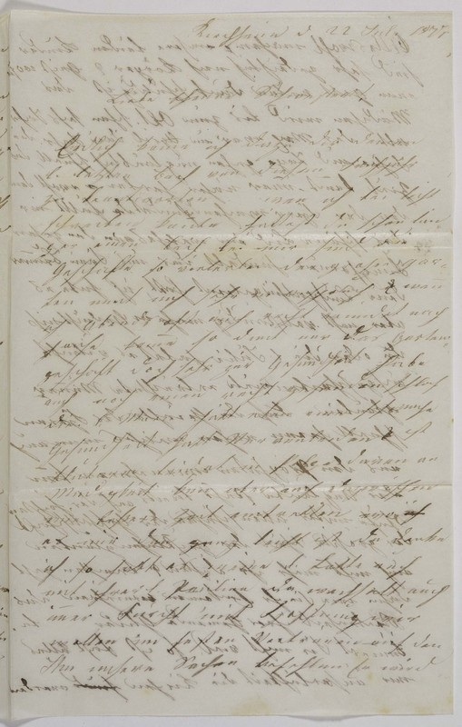 Höfeln family letter, July 22, 1877