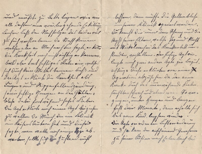 Lenchen Cherdron to Eugen Klee, July 14, 1922, p. 2 and p. 3