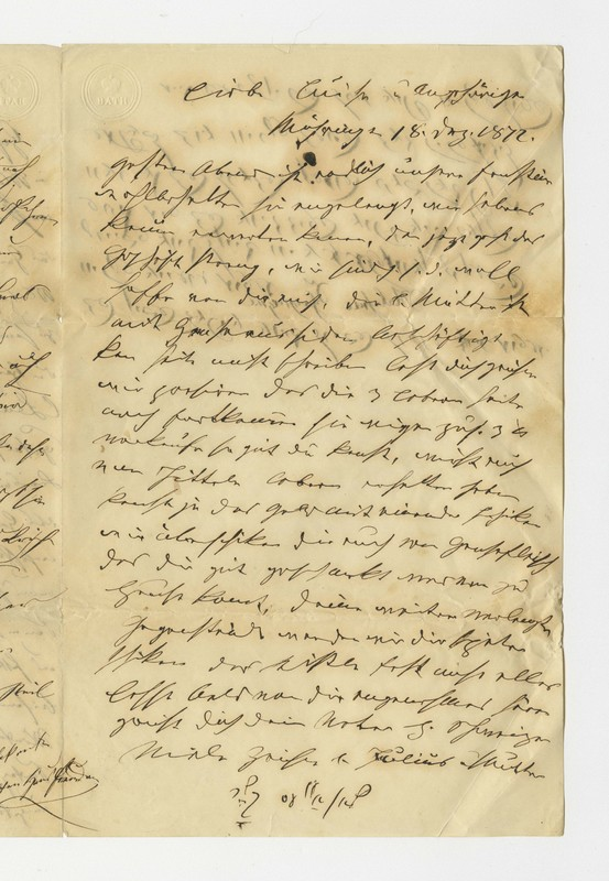 Schweitzer family letter, Dec. 18, 1872