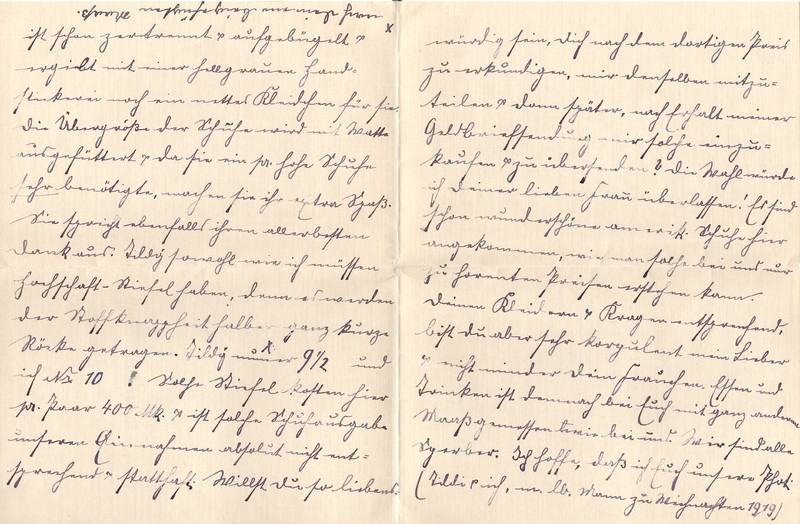 Lenchen Berdel to Eugen Klee, February 26, 1920, p. 2 and p. 3