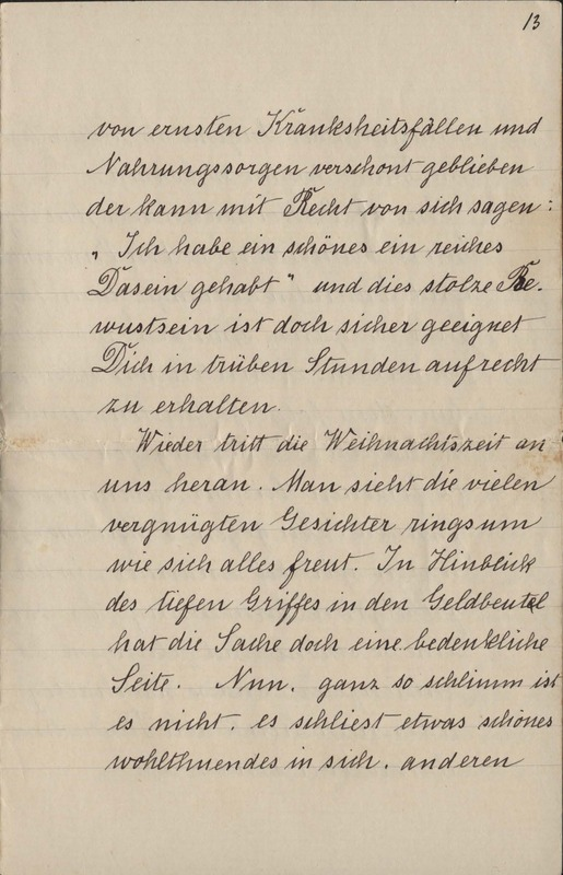 Gustave Grupe to Marie Grupe [?], date unknown, p. 13