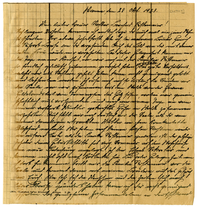 Joseph Altekoester to Bernard Rustemeyer, October 28, 1923