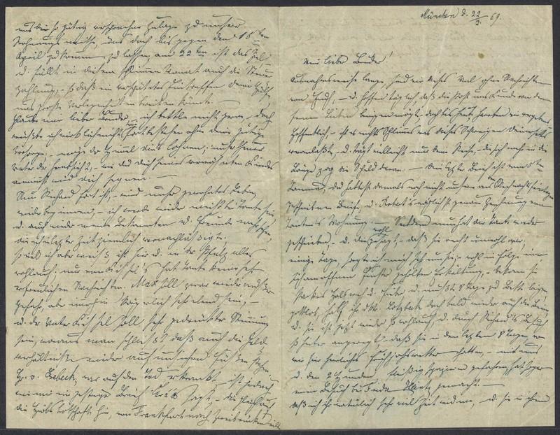 Emma Hilgard (von Xylander) to Henry Villard, February 22, 1869